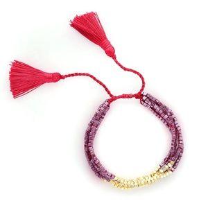 NEW Handmade Crystals Friendship Tassels Bracelet